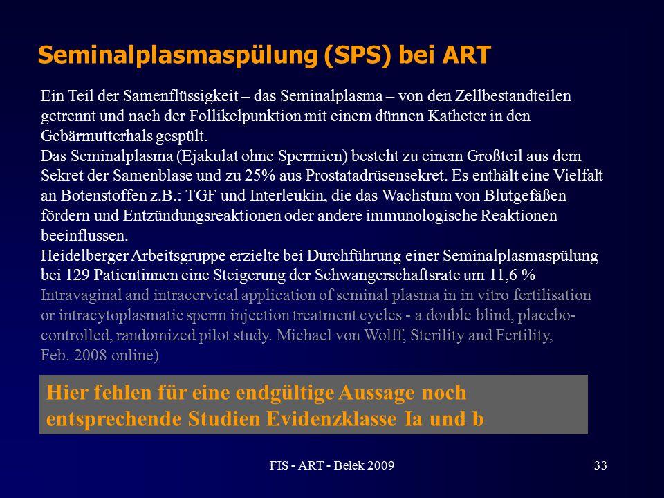 Seminalplasmaspülung (SPS) bei ART