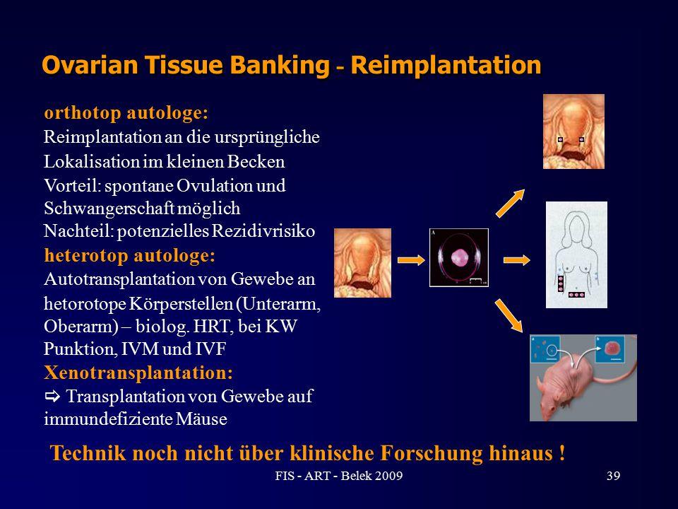 Ovarian Tissue Banking - Reimplantation