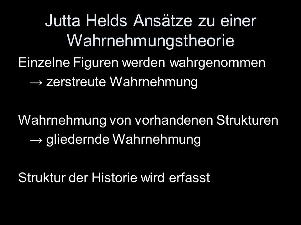 Jutta Helds Ansätze zu einer Wahrnehmungstheorie
