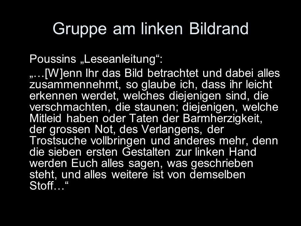 Gruppe am linken Bildrand