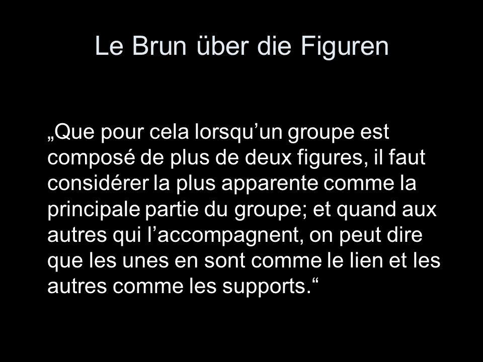Le Brun über die Figuren