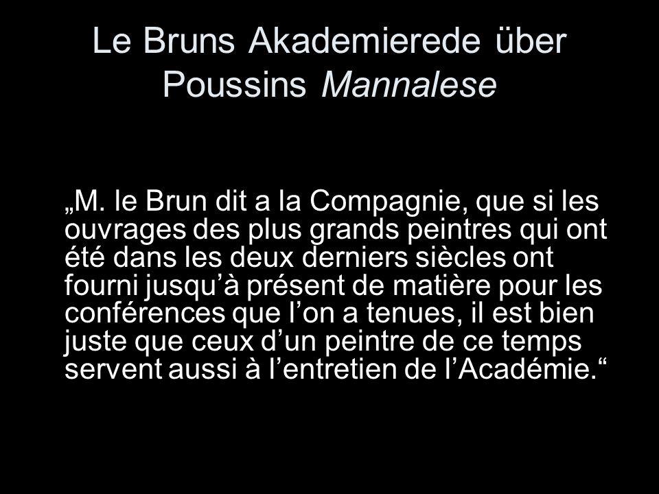Le Bruns Akademierede über Poussins Mannalese