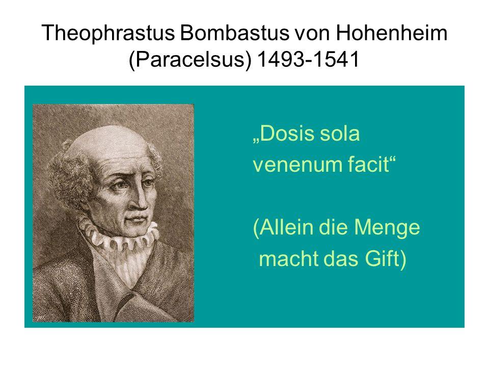 Theophrastus Bombastus von Hohenheim (Paracelsus) 1493-1541