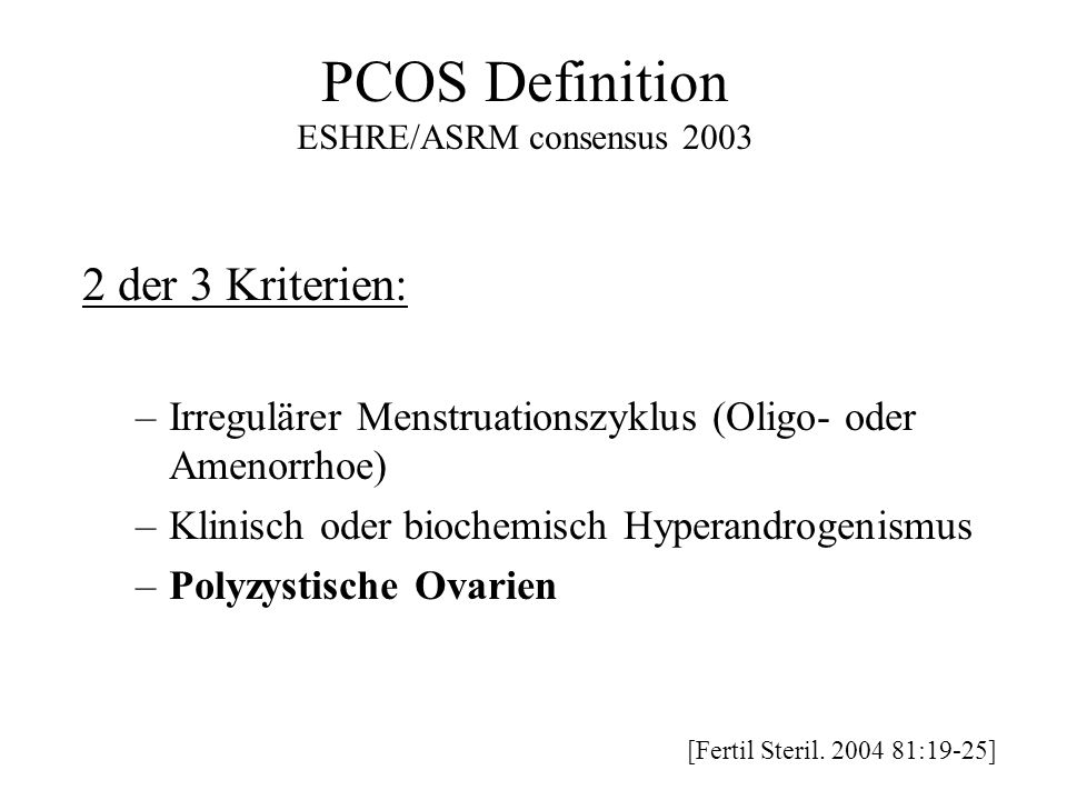 PCOS Definition 2 der 3 Kriterien: