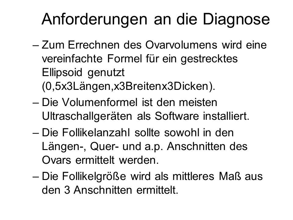 Anforderungen an die Diagnose