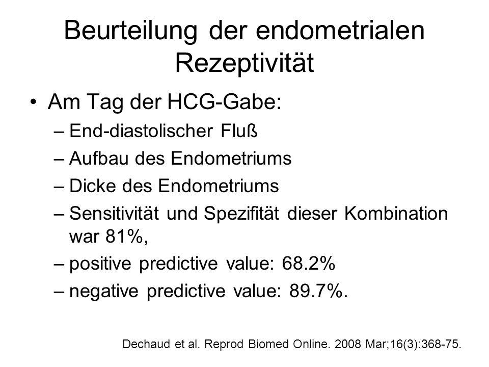 Beurteilung der endometrialen Rezeptivität