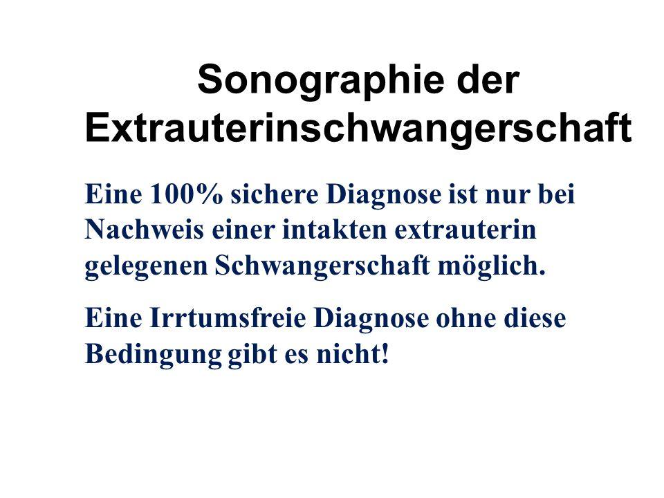 Sonographie der Extrauterinschwangerschaft