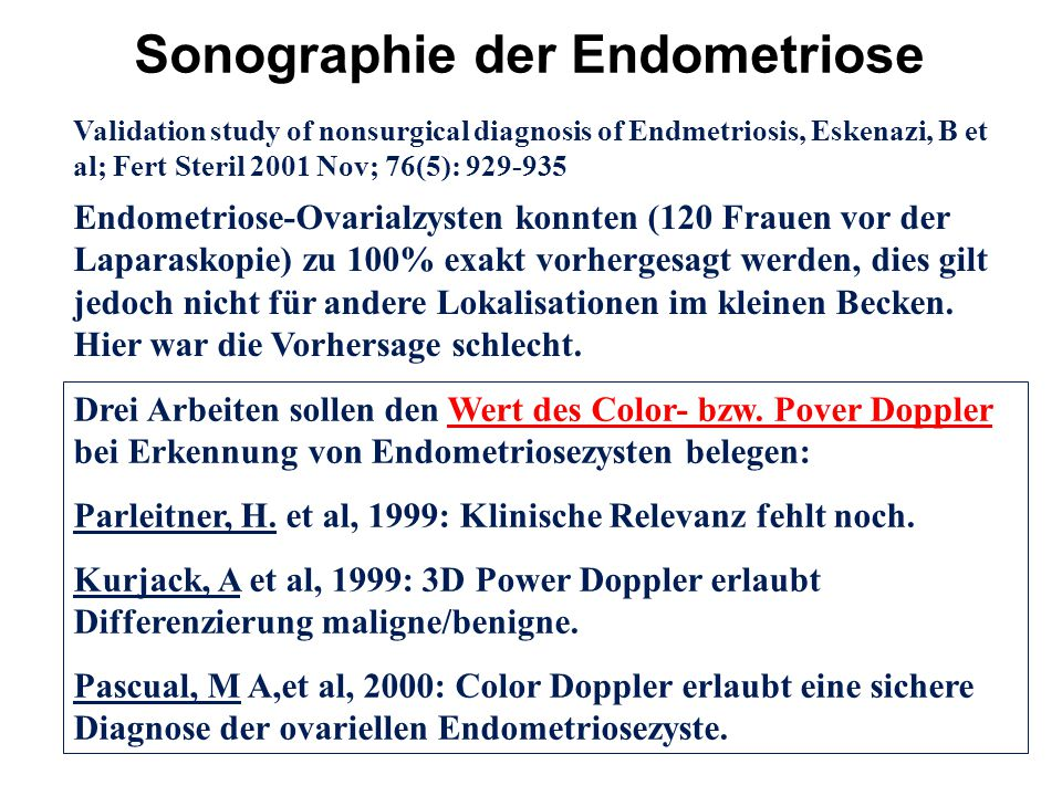 Sonographie der Endometriose