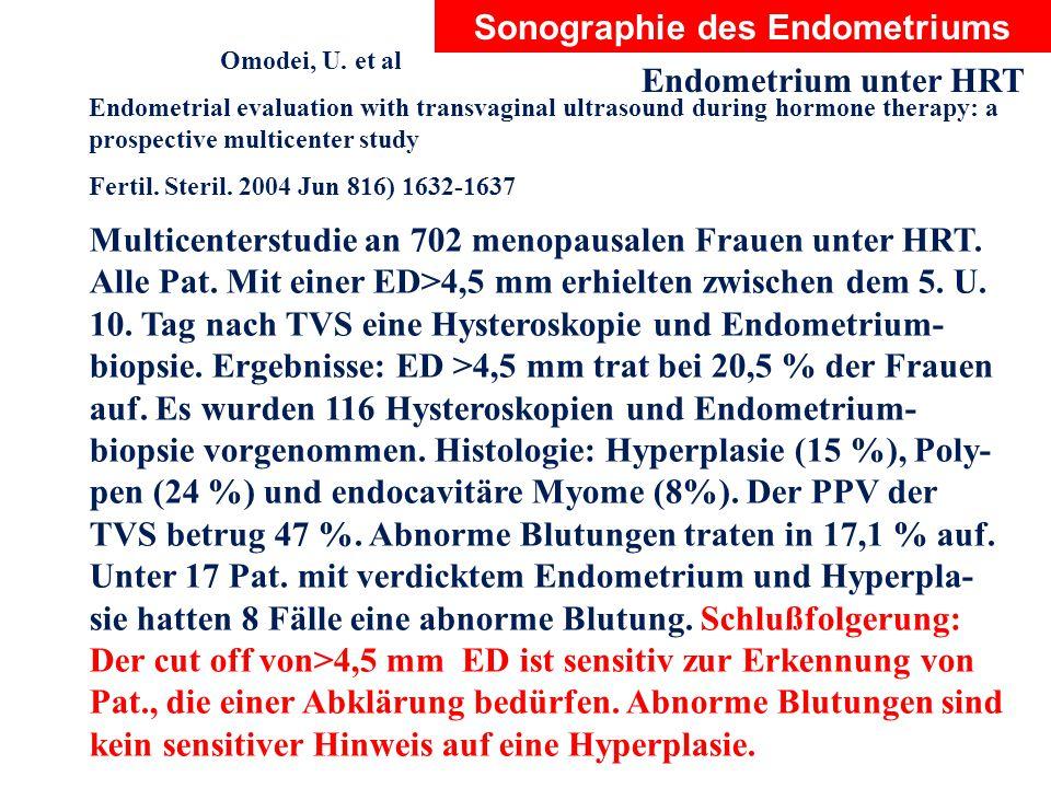 Sonographie des Endometriums