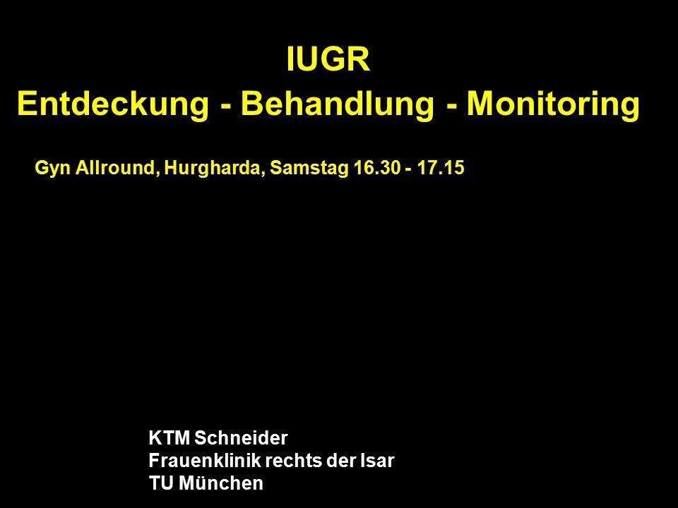IUGR Entdeckung - Behandlung - Monitoring