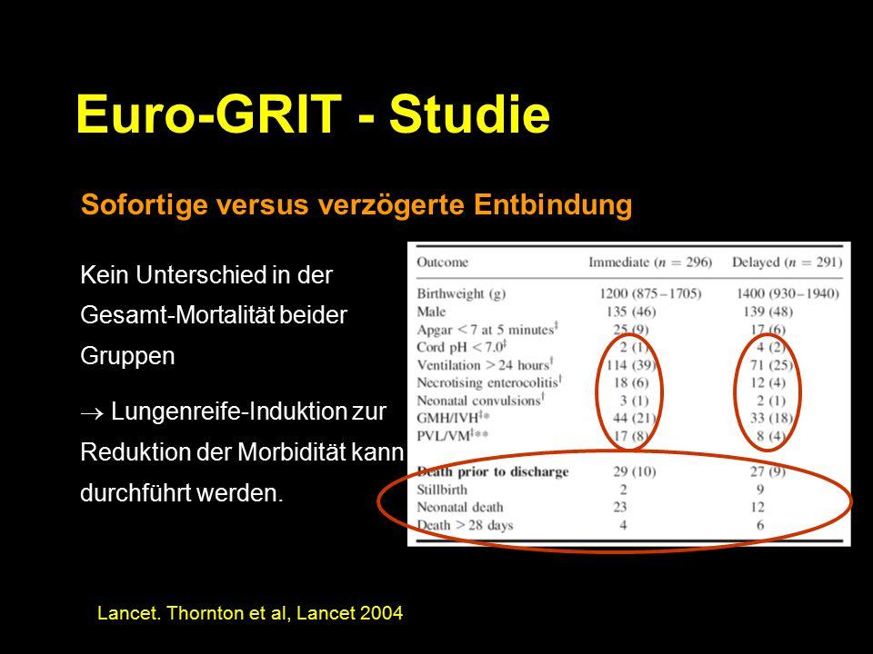 Euro-GRIT - Studie Sofortige versus verzögerte Entbindung