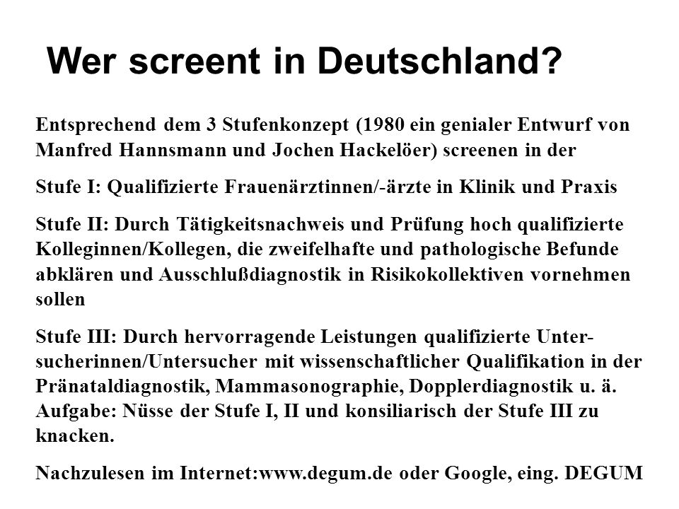 Wer screent in Deutschland
