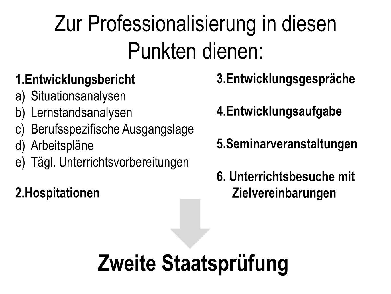 Zur Professionalisierung in diesen Punkten dienen: