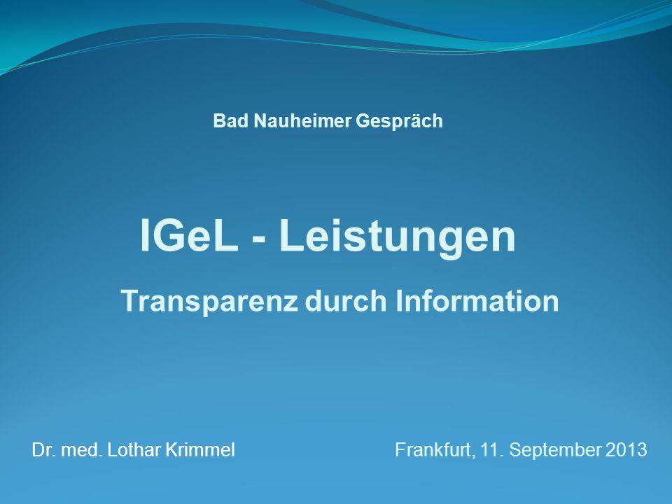 Bad Nauheimer Gespräch Transparenz durch Information