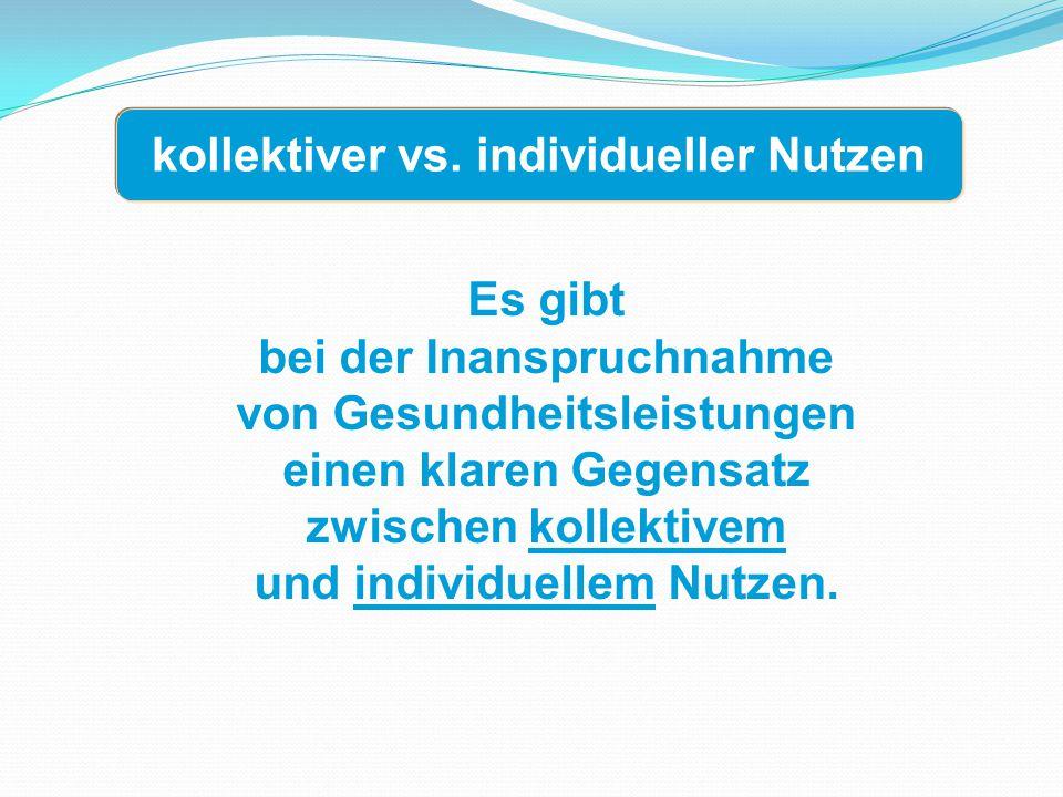 kollektiver vs. individueller Nutzen