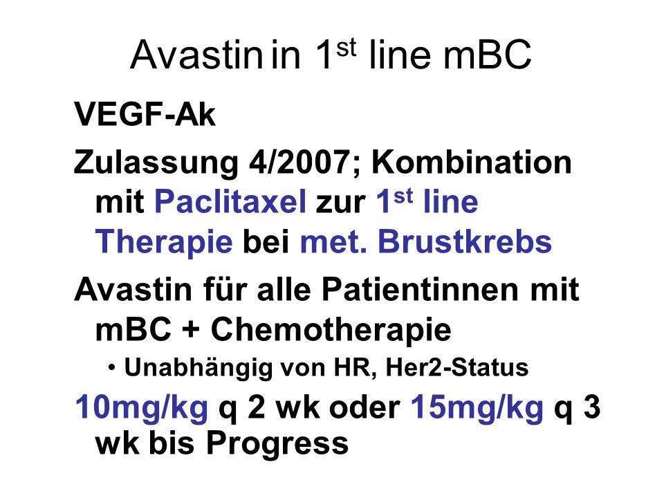 Avastin in 1st line mBC VEGF-Ak