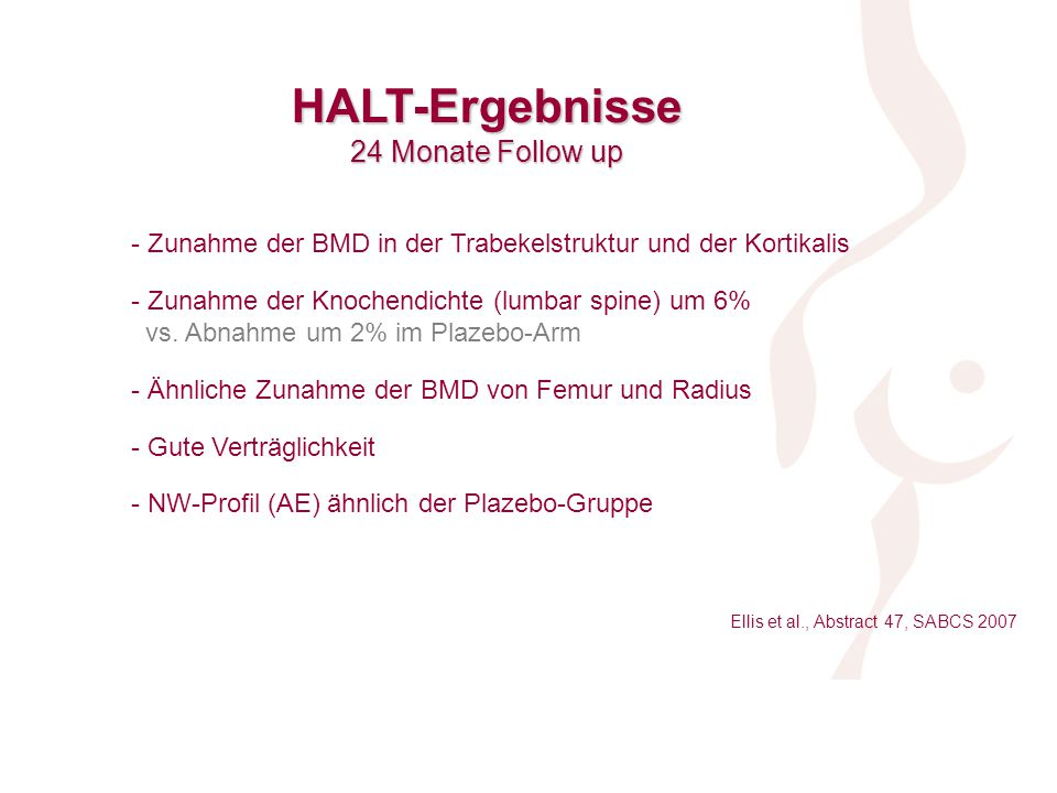 HALT-Ergebnisse 24 Monate Follow up