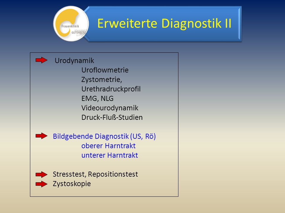 Erweiterte Diagnostik II