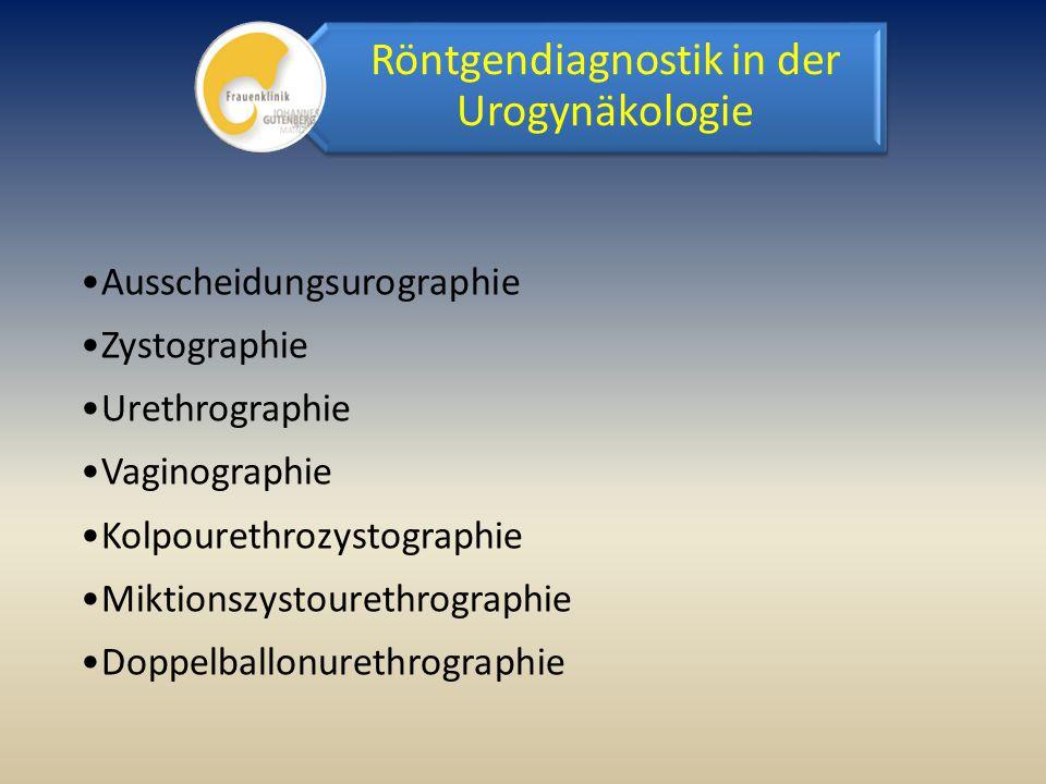 Röntgendiagnostik in der Urogynäkologie