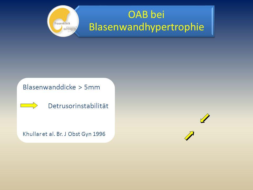 OAB bei Blasenwandhypertrophie