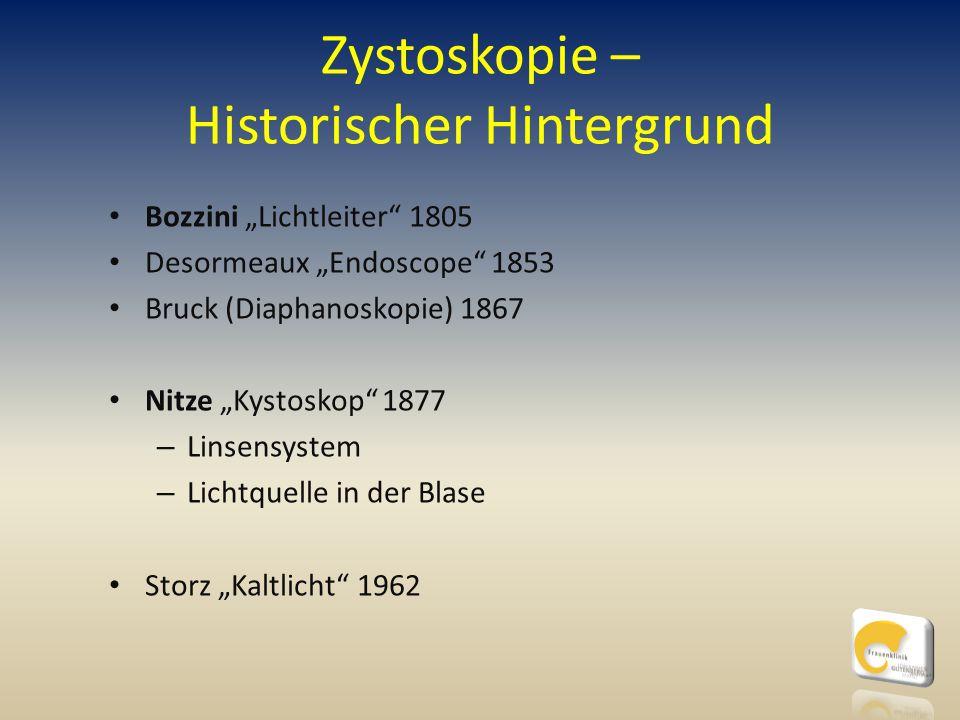 Zystoskopie – Historischer Hintergrund