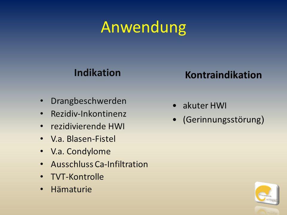 Anwendung Indikation Kontraindikation Drangbeschwerden akuter HWI