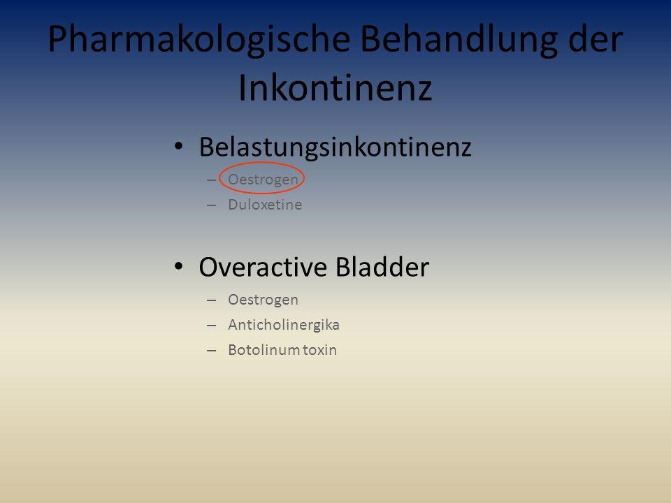 Pharmakologische Behandlung der Inkontinenz