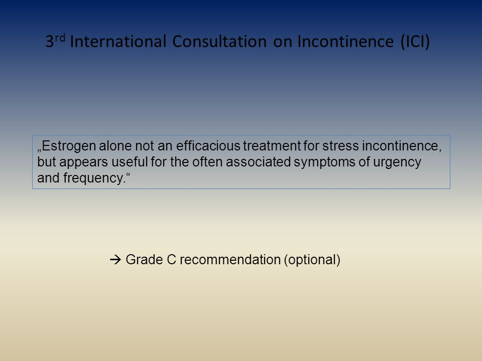 3rd International Consultation on Incontinence (ICI)