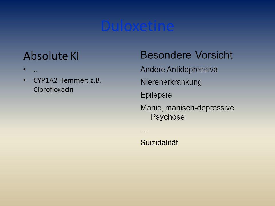 Duloxetine Absolute KI Besondere Vorsicht …