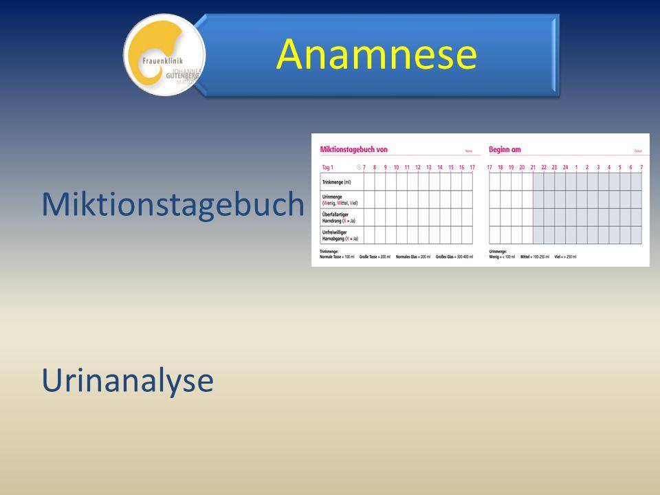 Anamnese Miktionstagebuch Urinanalyse