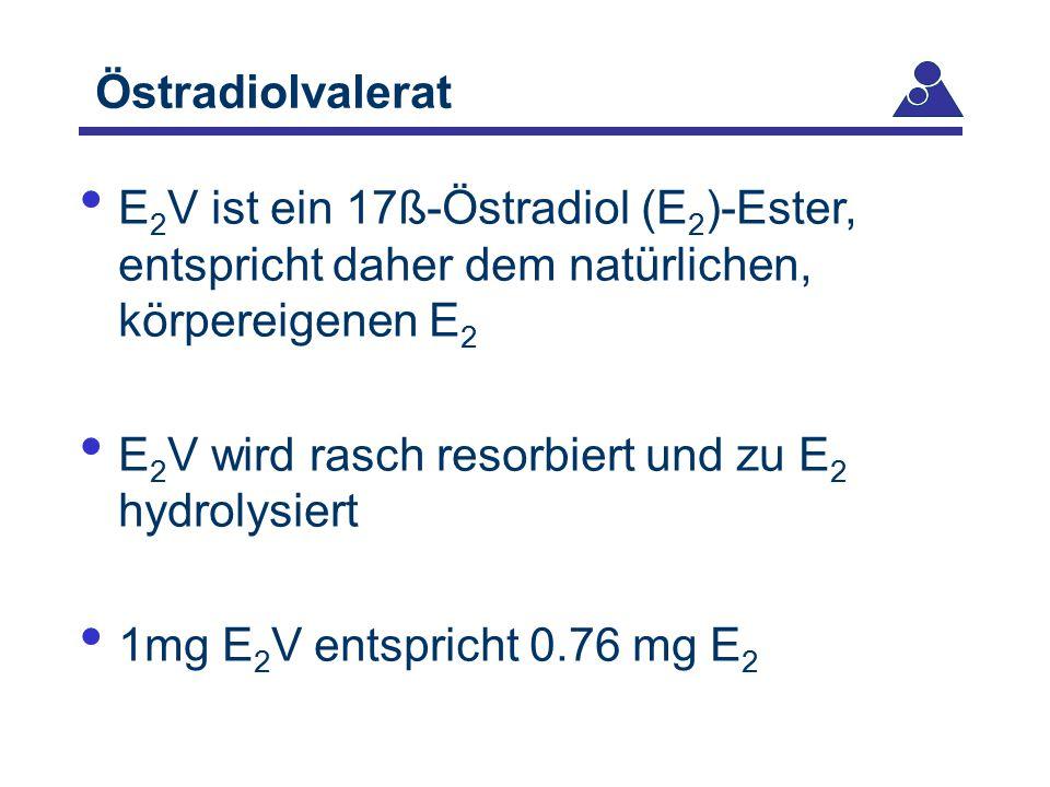 Östradiolvalerat E2V ist ein 17ß-Östradiol (E2)-Ester, entspricht daher dem natürlichen, körpereigenen E2.