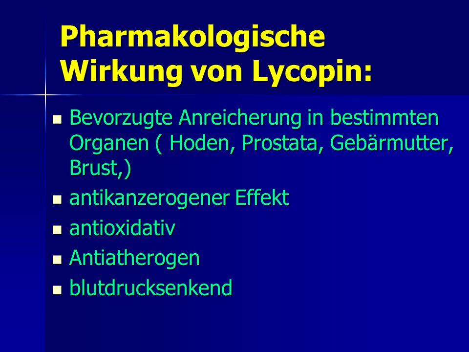Pharmakologische Wirkung von Lycopin:
