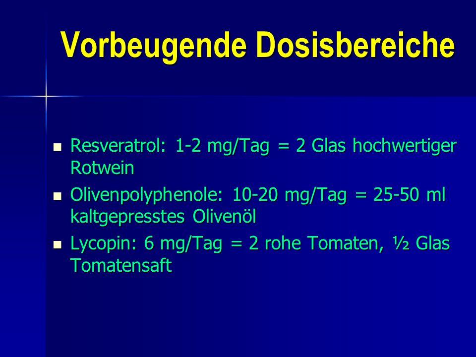 Vorbeugende Dosisbereiche