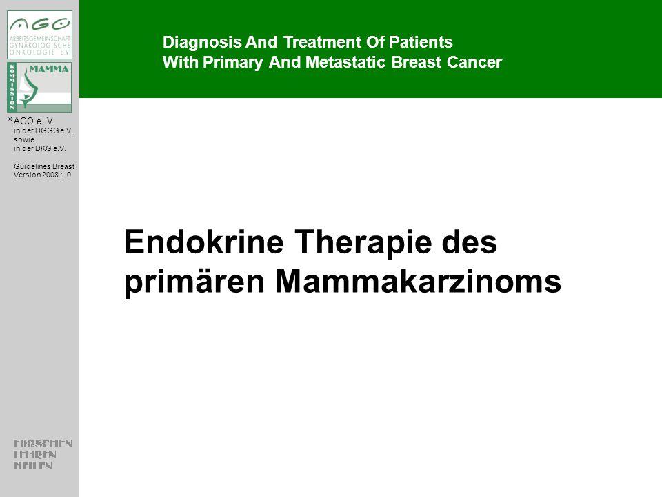Endokrine Therapie des primären Mammakarzinoms