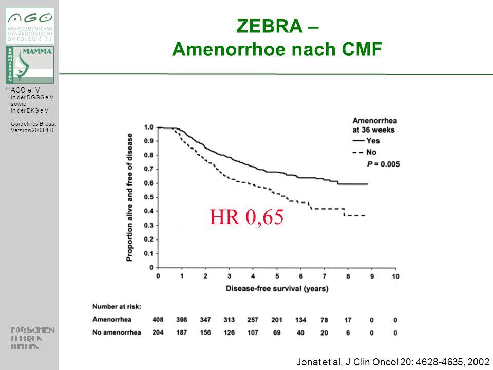 ZEBRA – Amenorrhoe nach CMF