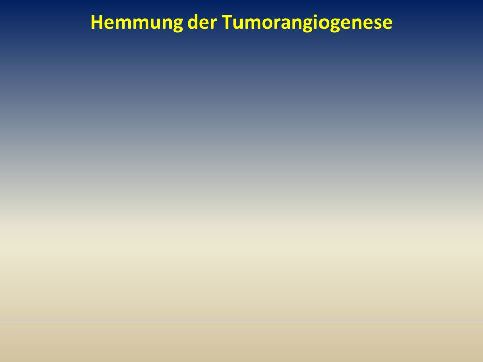 Hemmung der Tumorangiogenese