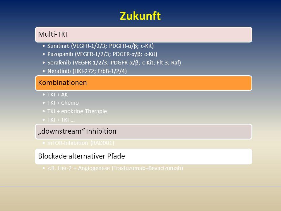 Zukunft Multi-TKI Sunitinib (VEGFR-1/2/3; PDGFR-α/β; c-Kit)