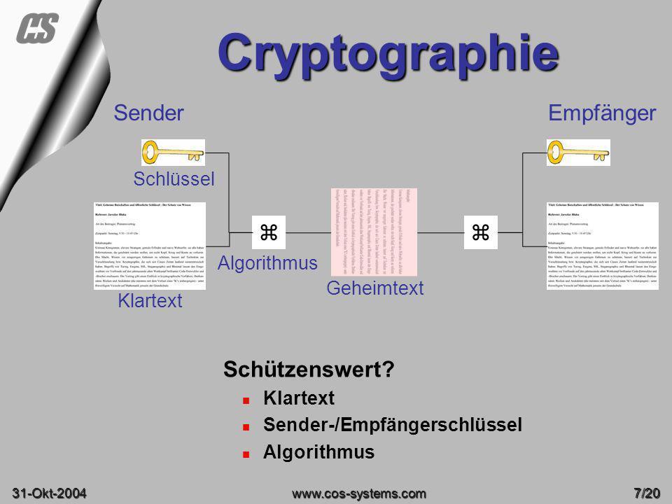 Cryptographie Sender Empfänger   Schützenswert Schlüssel