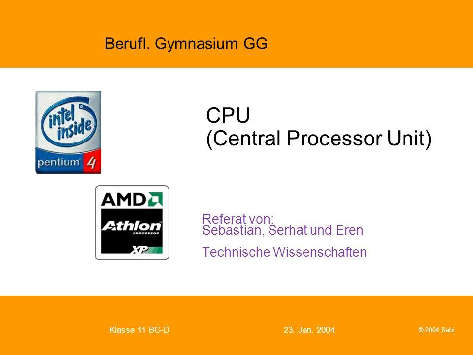 CPU (Central Processor Unit)