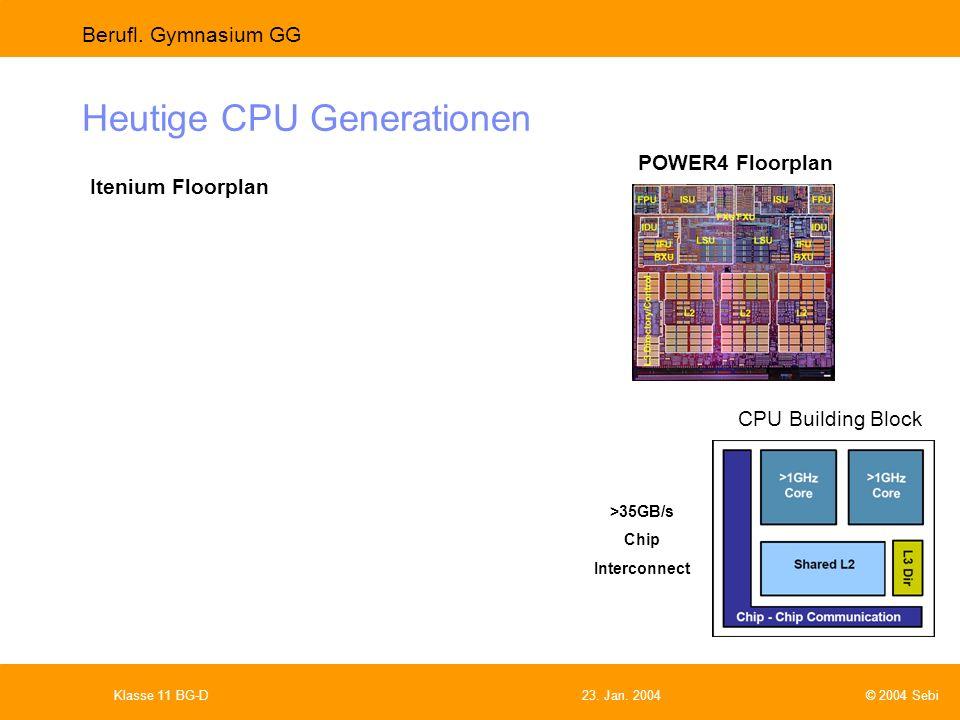 Heutige CPU Generationen