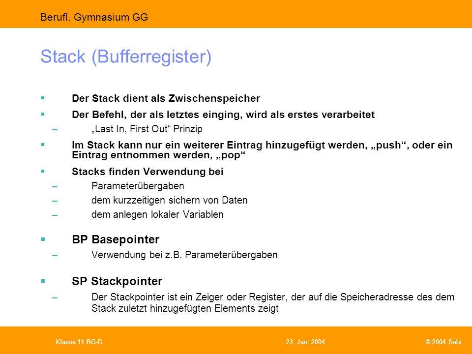 Stack (Bufferregister)
