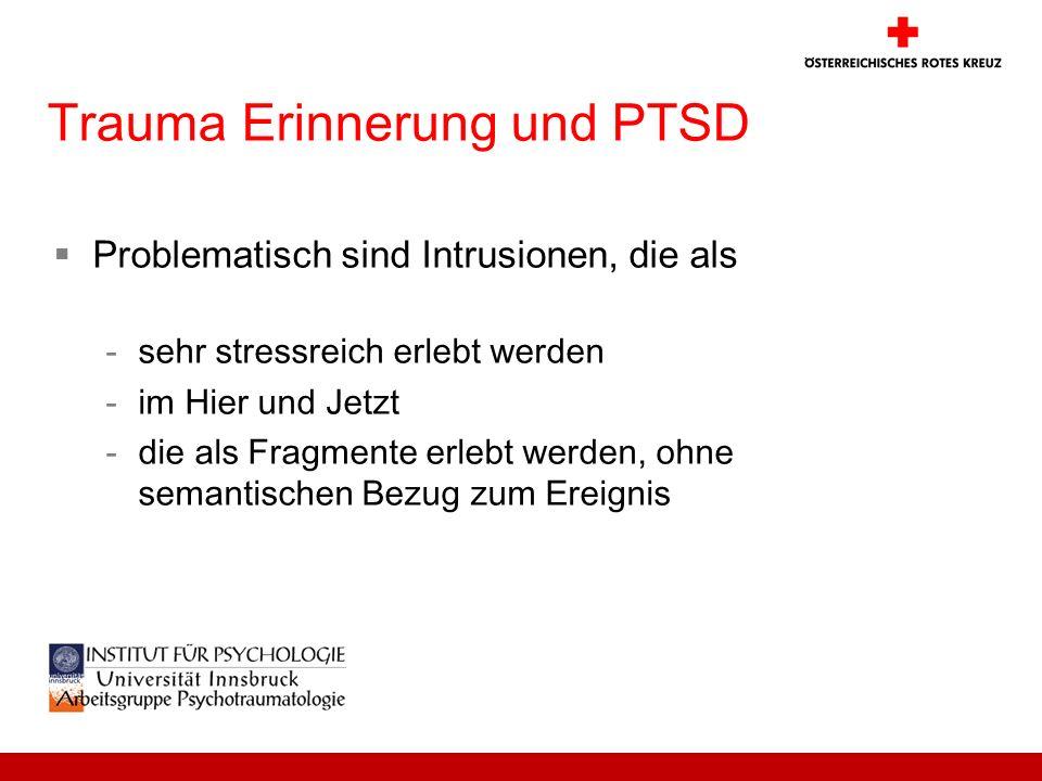 Trauma Erinnerung und PTSD