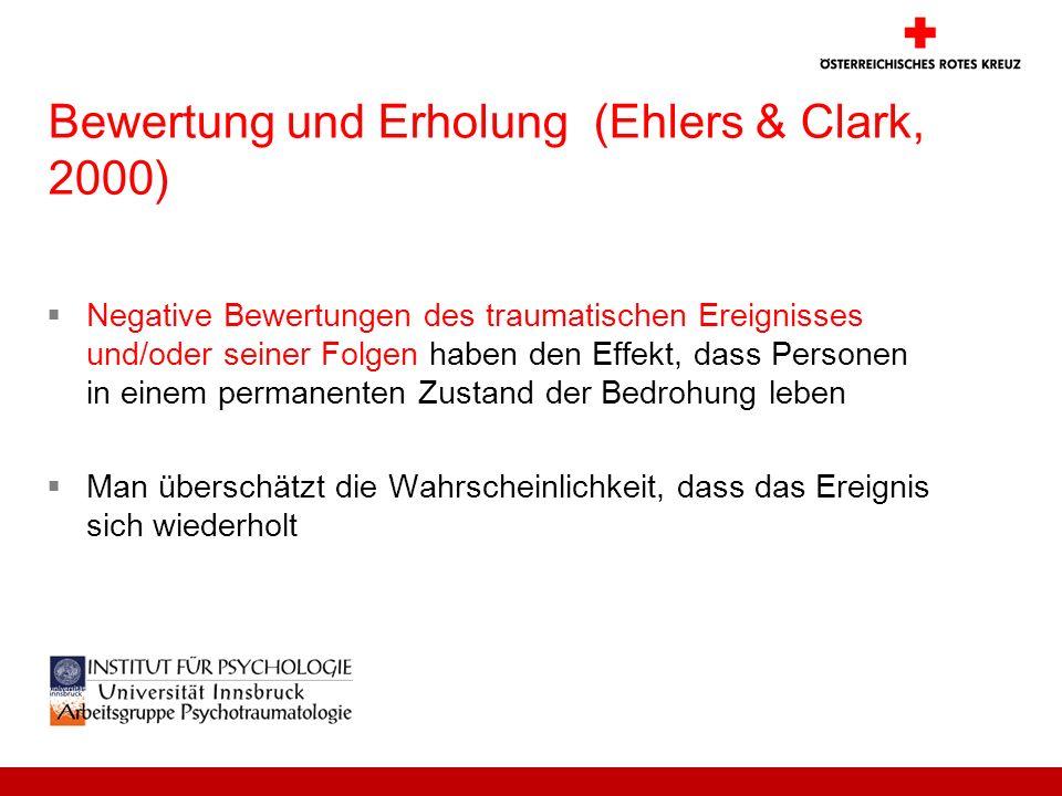 Bewertung und Erholung (Ehlers & Clark, 2000)