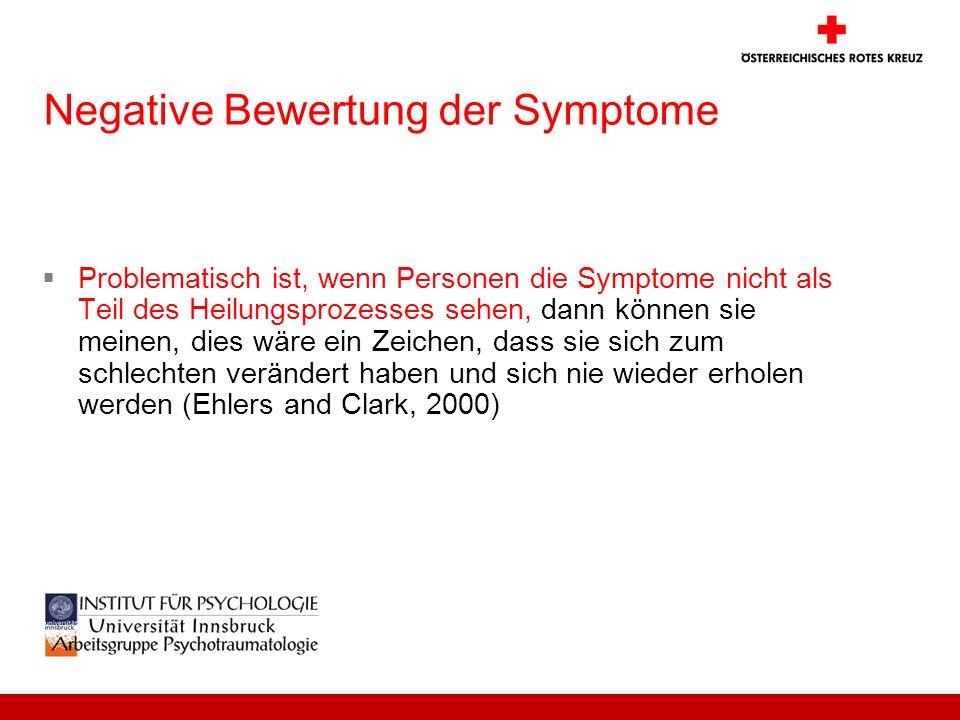 Negative Bewertung der Symptome