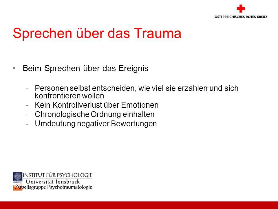 Sprechen über das Trauma