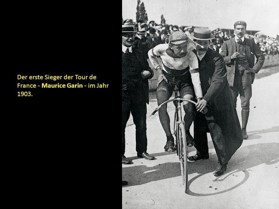 Der erste Sieger der Tour de France - Maurice Garin - im Jahr 1903.