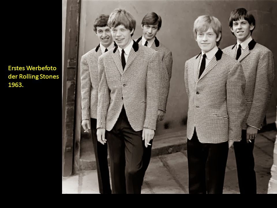 Erstes Werbefoto der Rolling Stones 1963.