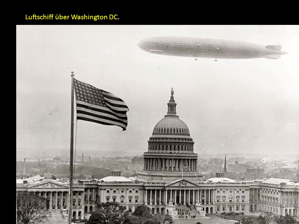 Luftschiff über Washington DC.
