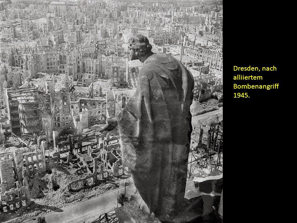 Dresden, nach alliiertem Bombenangriff