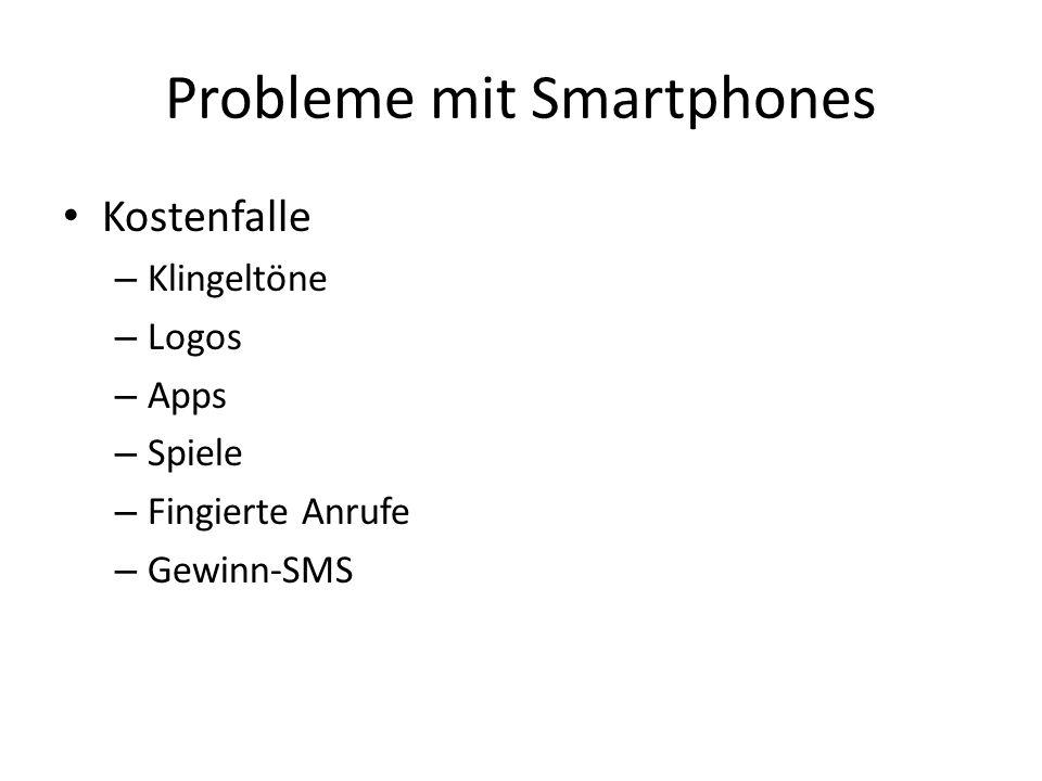 Probleme mit Smartphones